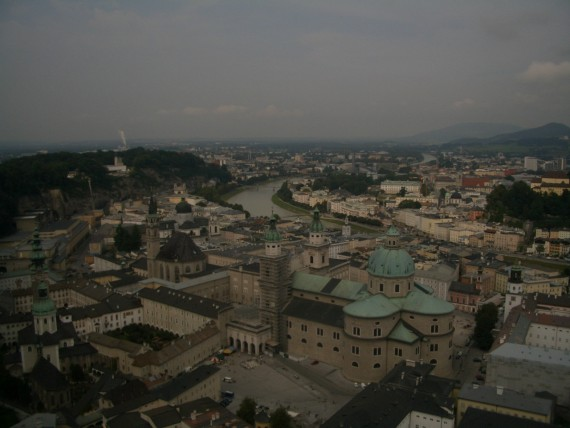 街のそのものが世界遺産であるザルツブルク旧市街