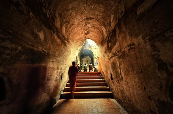 The ancient tunnelU-Mong temple Chiangmai Thailand