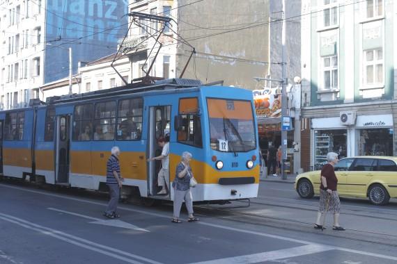 路面電車はソフィア市民の重要な交通手段